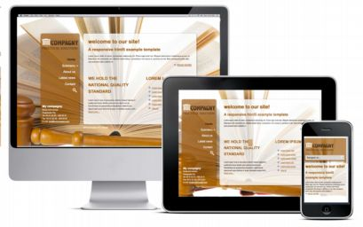 responsive template lawyers example