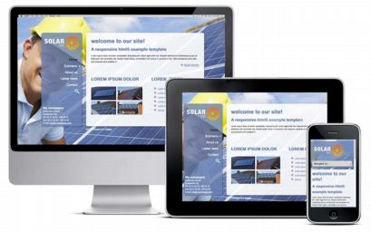 responsive template solar energy product example