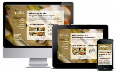 responsive template sushi restaurant product example
